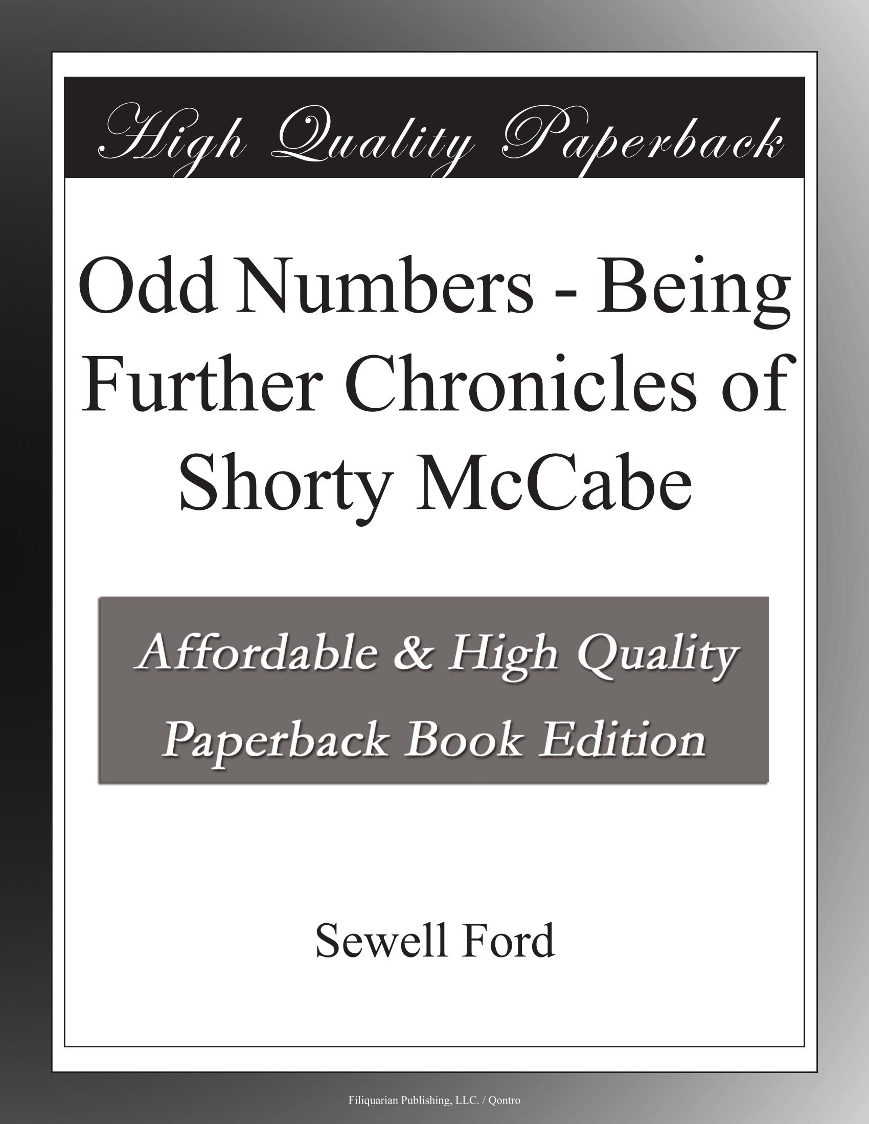 Odd Numbers - Being Further Chronicles of Shorty McCabe PDF