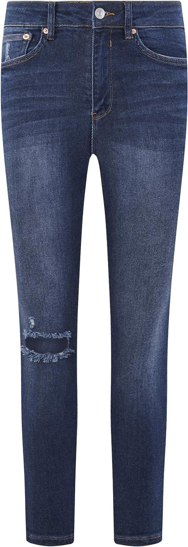 oodji Ultra Femme Jean Skinny Taille Haute