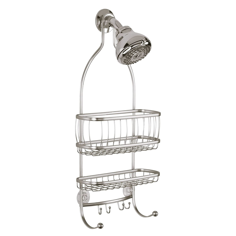 InterDesign York Lyra - Bathroom Shower Caddy Shelves - Satin - 10 x 4 x 22 inches 61975