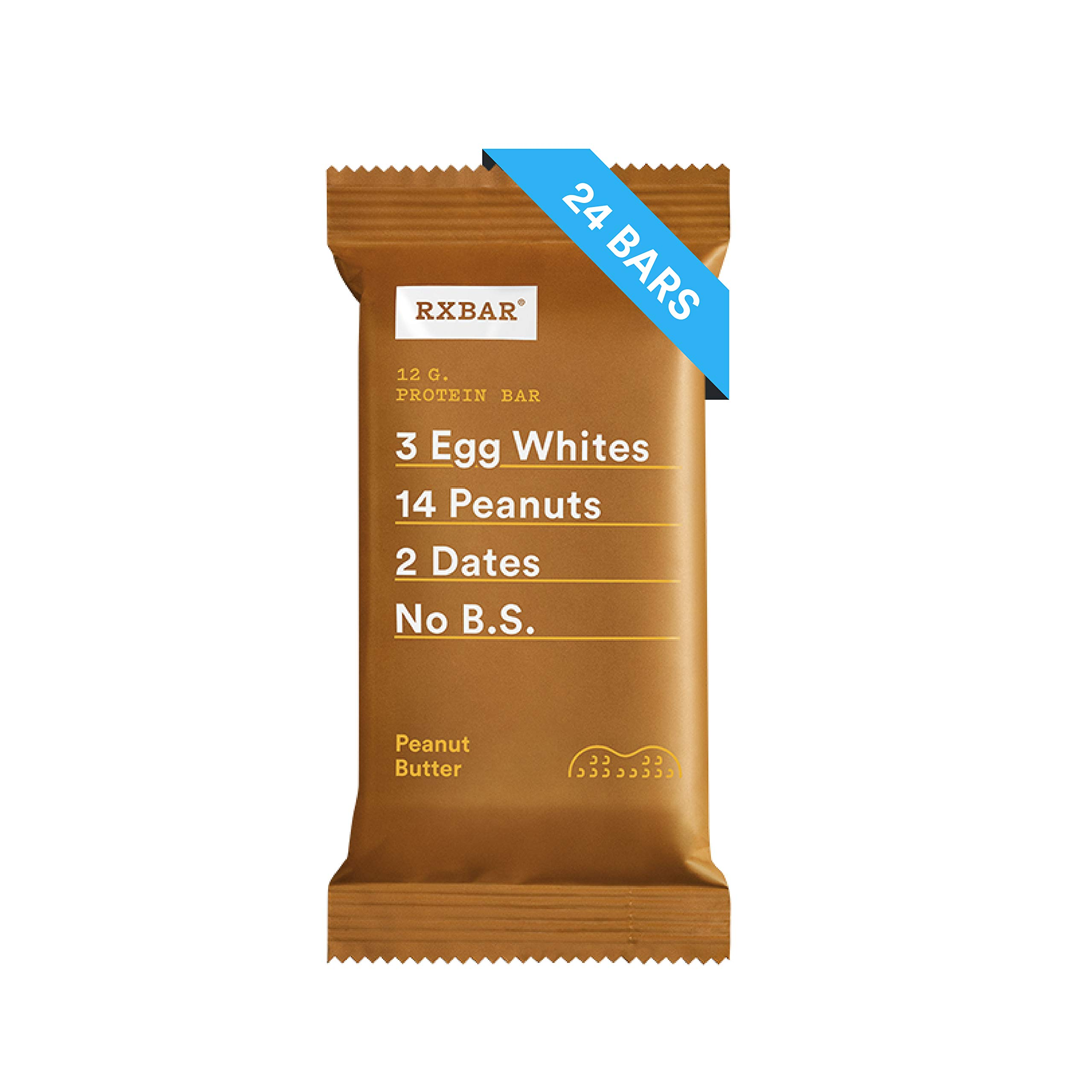 RXBAR Whole Food Protein Bar, Peanut Butter, 1.83 Ounce (Pack of 24)