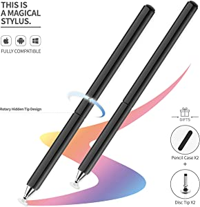 Tablet Stylus, Universal High Sensitive & Precision Capacitive Disc Tip Touch Screen Pen Stylus for iPhone/iPad/Pro/Samsung/Galaxy/Tablet/Kindle/iWatch