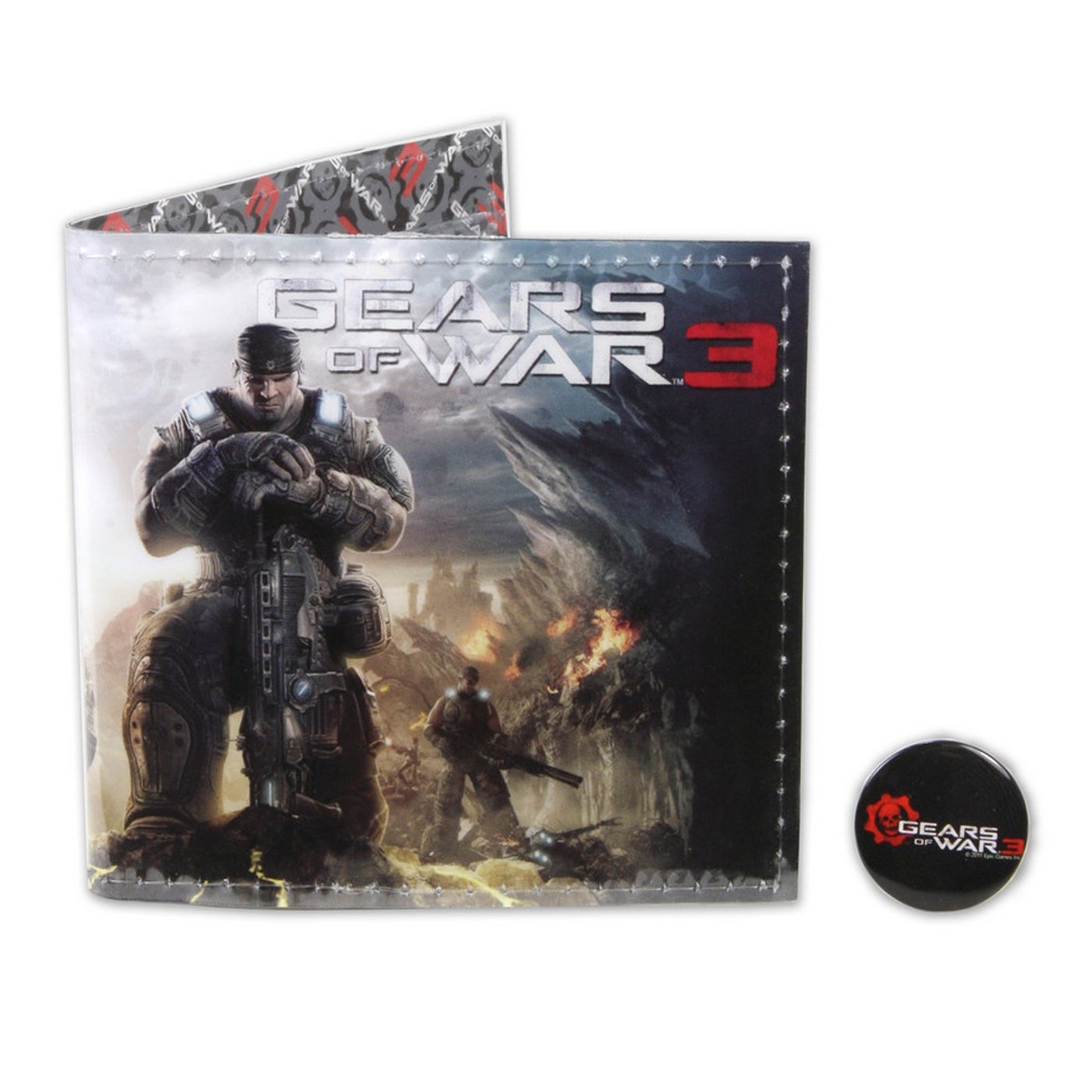 NECA Gears of War 3 Vinyl Wallet with Pin