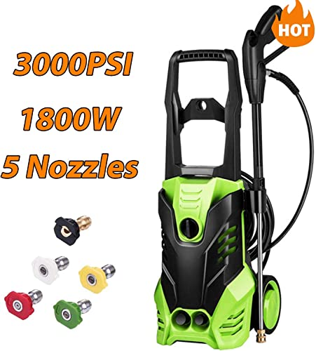Homdox 3000 PSI Electric Pressure Washer, High Pressure Washer, Professional Washer, 1800W High Pressure Cleaner with 5 Adjustable Nozzle