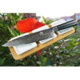 """SXL-M8 Damascus Pro Chef Knife 8"""", Cooks Knife–Sharp Knife-Dellinger Cutlery Tsuchime Series-Japanese 67 Layers VG-10 Damascus Steel with Gift Box"""