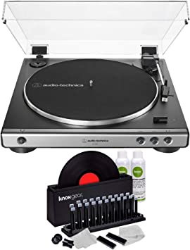 Audio-Technica AT-LP60X Fully Automatic Belt-Drive Stereo Turntable Gunmetal