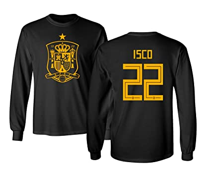 ee3156dbb Tcamp Spain 2018 National Soccer  22 ISCO World Championship Men s Long  Sleeve T-Shirt