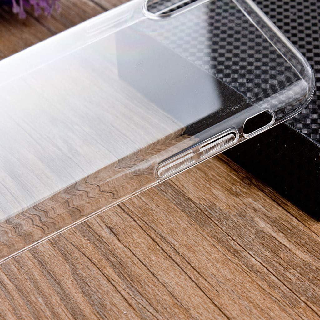 6.3 -Clear HYMY Funda para Moto One Vision 1 x Vidrio Templado Protectores Pantalla Transparente Clear TPU Silicona Suave Gel Caja Cover Tapa Caso Carcasa Cubierta para Motorola Moto One Vision