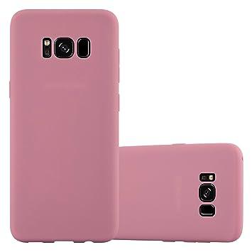 Cadorabo Funda para Samsung Galaxy S8 Plus en Candy Rosa – Cubierta Proteccíon de Silicona TPU Delgada e Flexible con Antichoque – Gel Case Cover ...