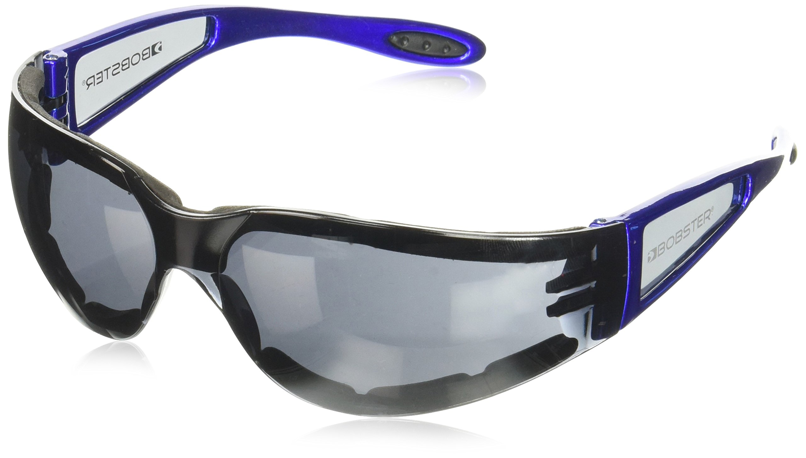 Bobster Shield 2 Sunglasses, Blue Frame/Smoked Lens, Closed Cell