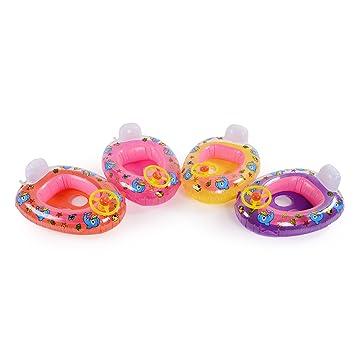 CLE DE TOUS - Flotador para Niños Niñas Bebés de 15-20kg en Forma de Coche con Dibujo Pato Color Aleatorio #156: Amazon.es: Juguetes y juegos