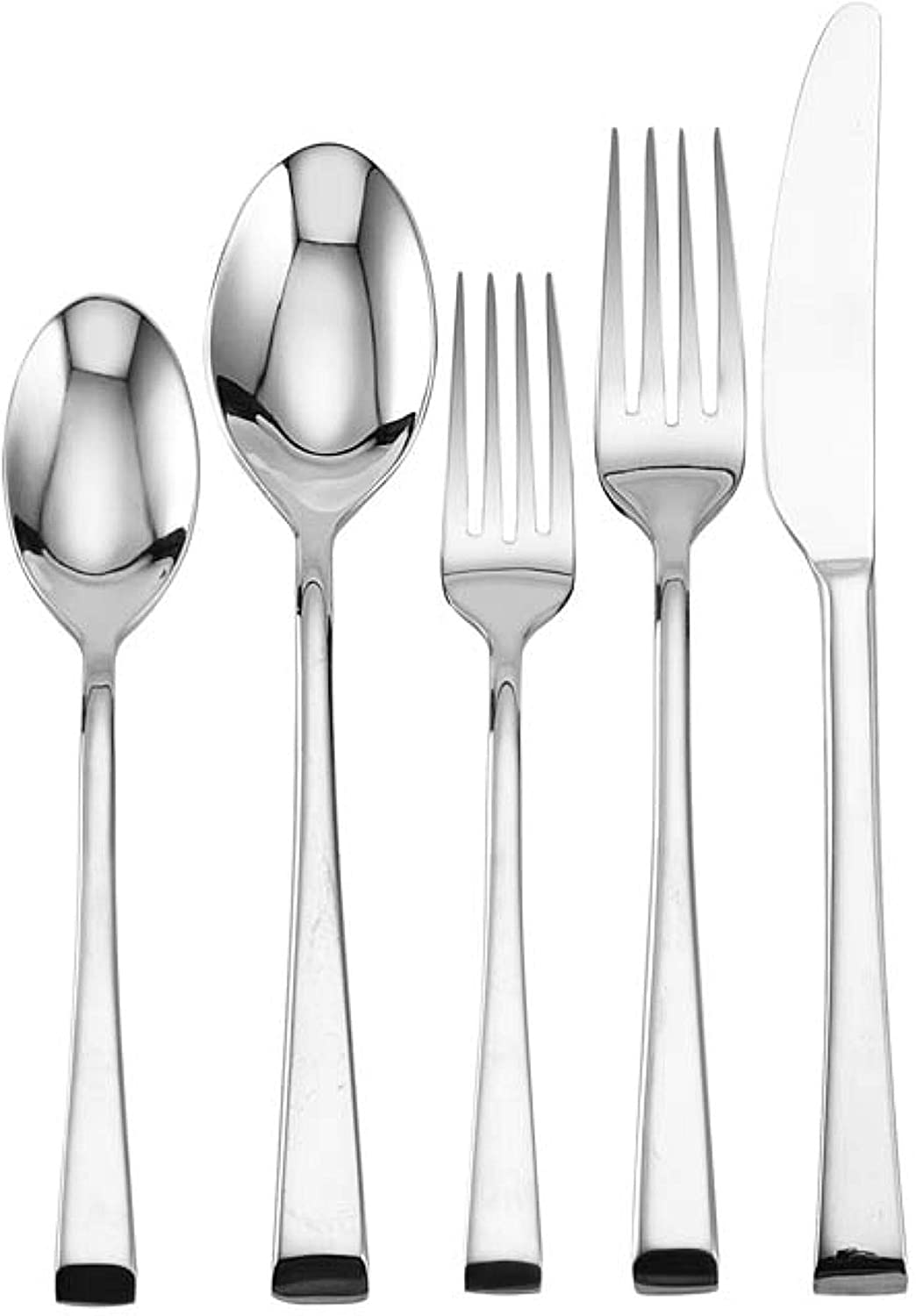 Mikasa Rockford 20 Piece 18 10 Stainless Steel Flatware Set Service For 4 Silver Flatware Sets