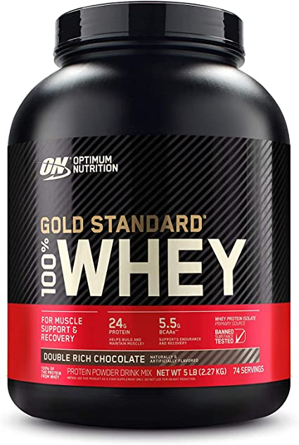 Optimum Nutrition 100% Whey Gold Standard, Double Rich Chocolate, 5 Pound, 80 Ounce: Amazon.com.mx: Salud, Belleza y Cuidado Personal