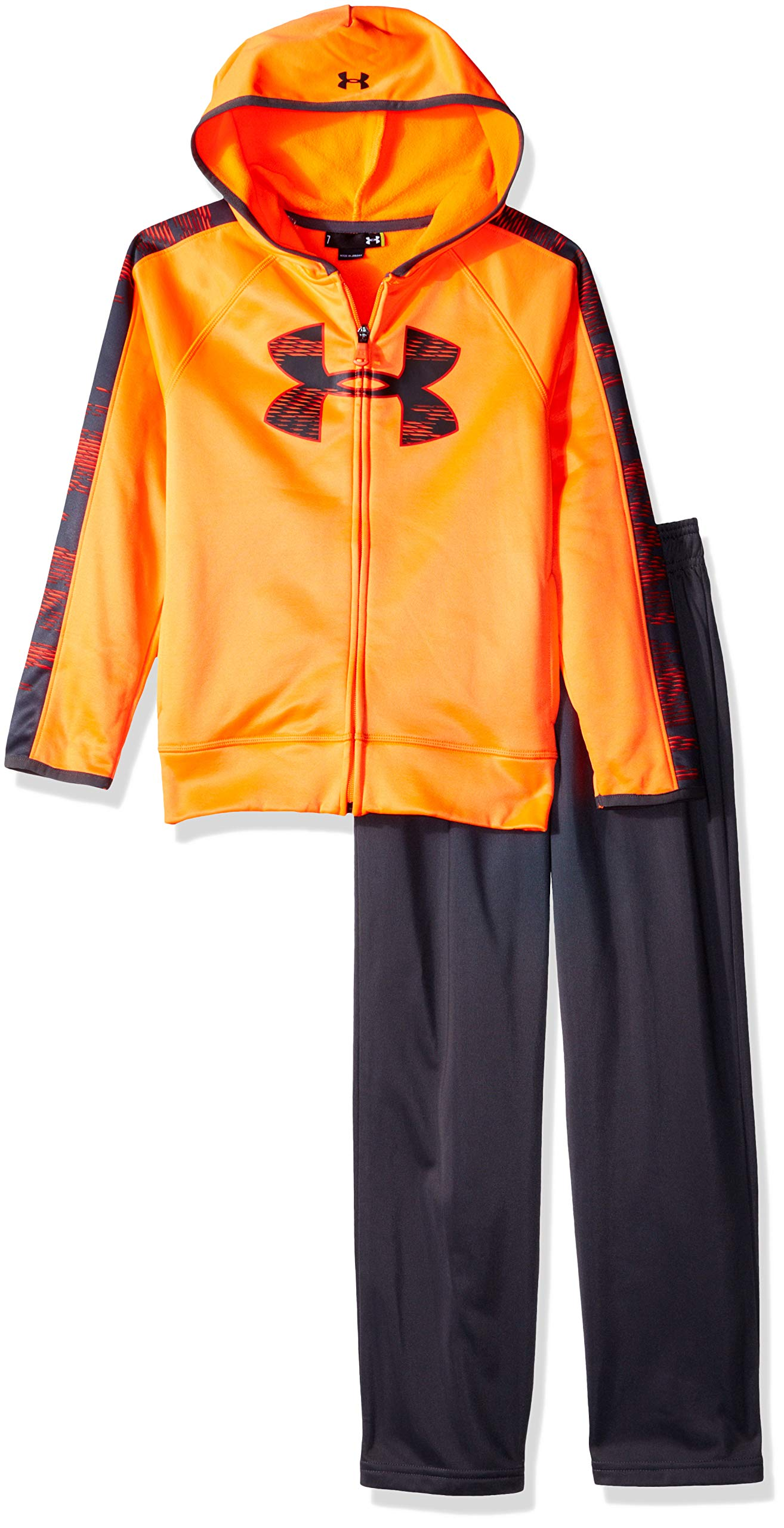 Under Armour Boys' Little Track Sets with Hood, Magma Orange Travel 7