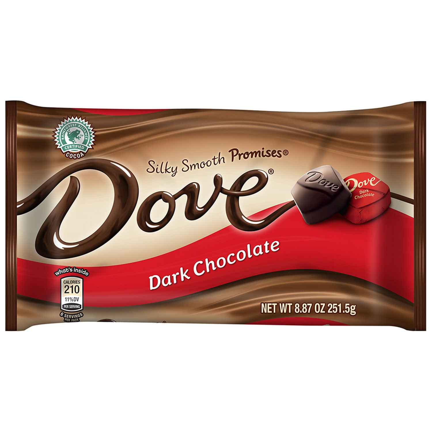 Dove Promises Dark Chocolate Candy 8.87-Ounce Bag (Pack of 12) by Dove