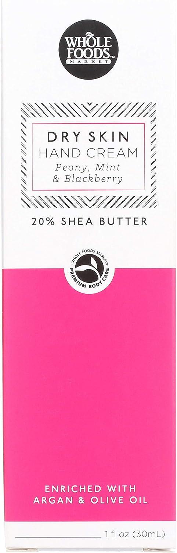 Whole Foods Market, Hand Cream, Peony, Mint & Blackberry, Dry Skin, 1 fl oz