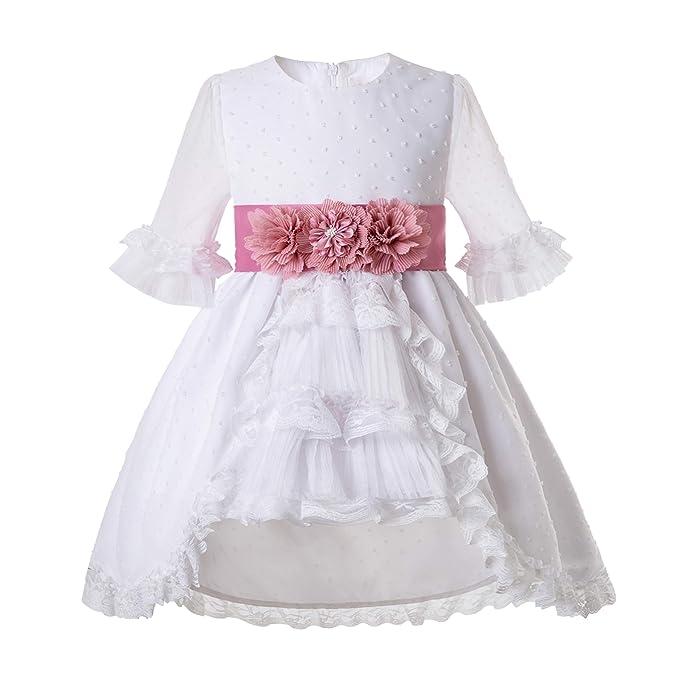 Mooler Vestido de comunión niña Floral: Amazon.es: Ropa y ...