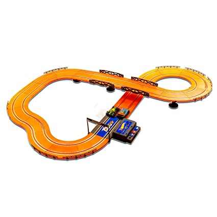 407f02068 Amazon.com  Hot Wheels Battery Operated 12.4 ft. Slot Track  Toys   Games