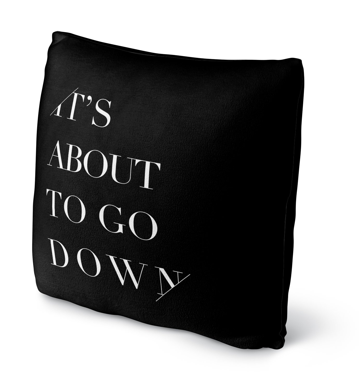 SCRAVC069FBS16 Size: 16x16x4 - KAVKA Designs Its About To Go Down Fleece Throw Pillow, Black - INSPO Collection