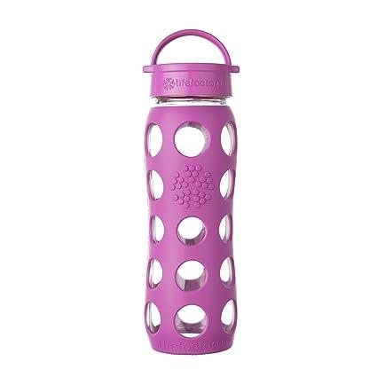 Lifefactory Botella con Classic Cap, vidrio, Huckleberry, 22 oz