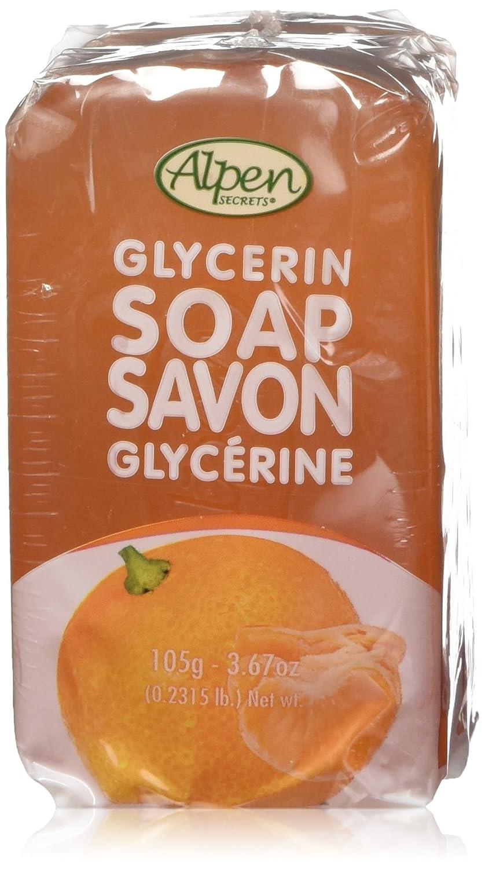 Alpen Secrets Orange Mandarin Glycerin Soap, 105 gr (Pack of 4)