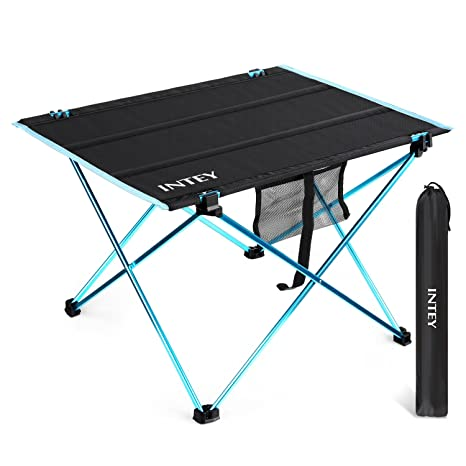 intey ultralight folding table camping picnic table portable roll up table with carrying bag large - Outdoor Folding Table