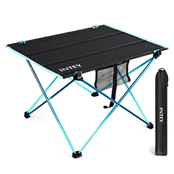 INTEY Ultralight Folding Table Camping Picnic Table Portable Roll Up Table  With Carrying Bag (Large