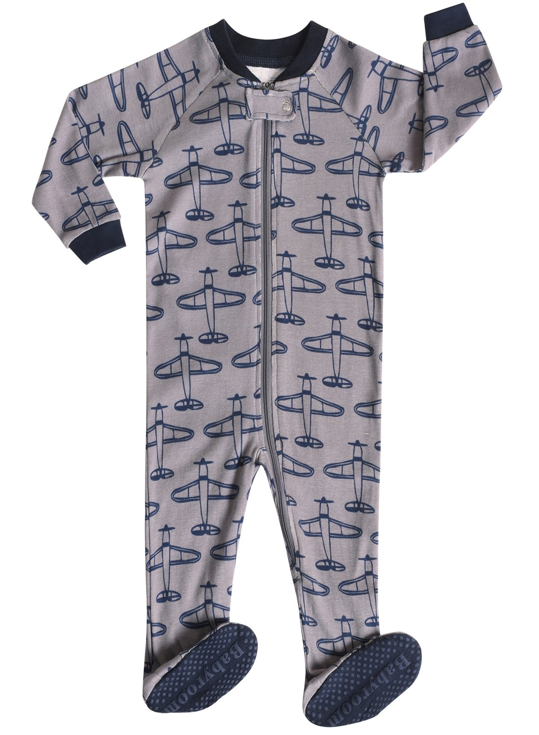 Little and Baby Boys Footed Dinosaur Pajamas Sleeper 100% Cotton Size 6M-5T