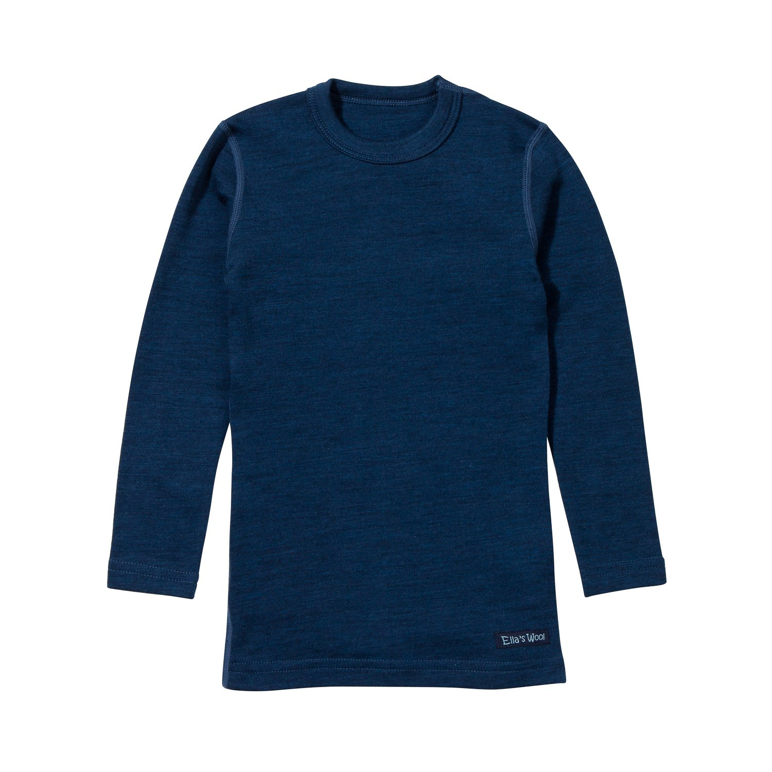 Ultrasoft Kid's 2-4Y Base Layer Merino Top (Navy Blue) by Ella's Wool