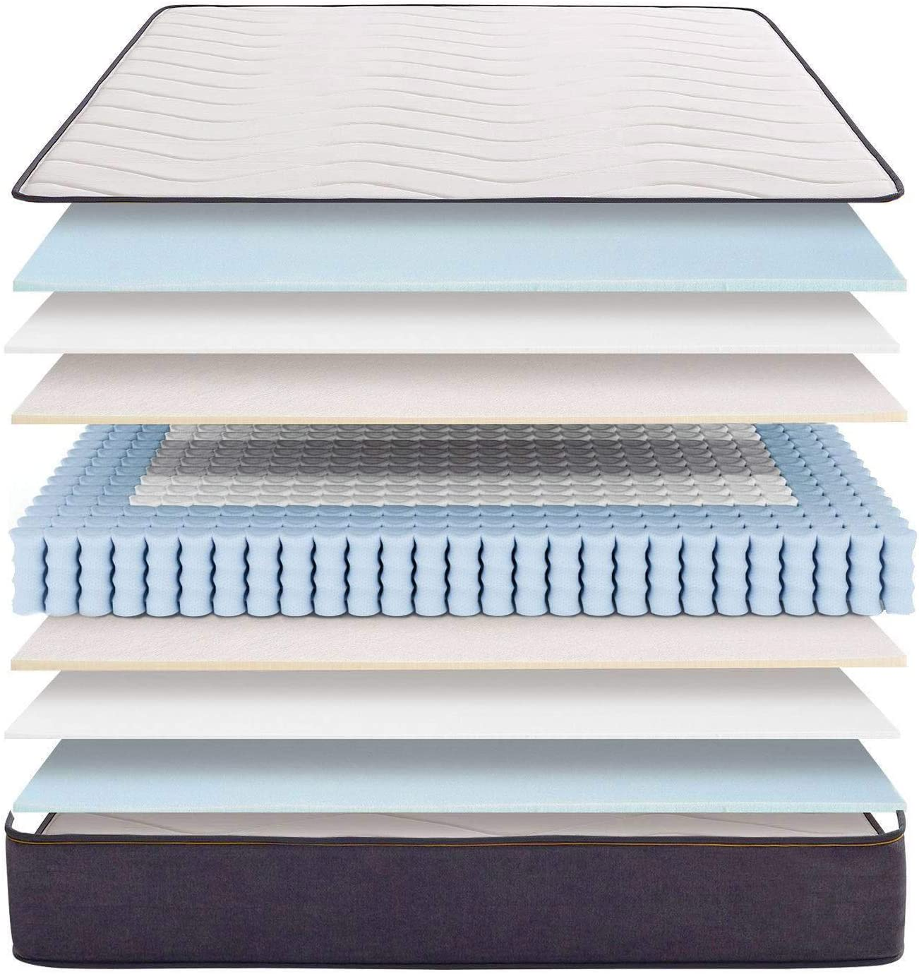 KHAMA Modelo Essential Basic | Muelles Ensacado con viscoelástica | Firmeza 8/10 | 28% Más Transpirable I Room Lux, 135X190x28