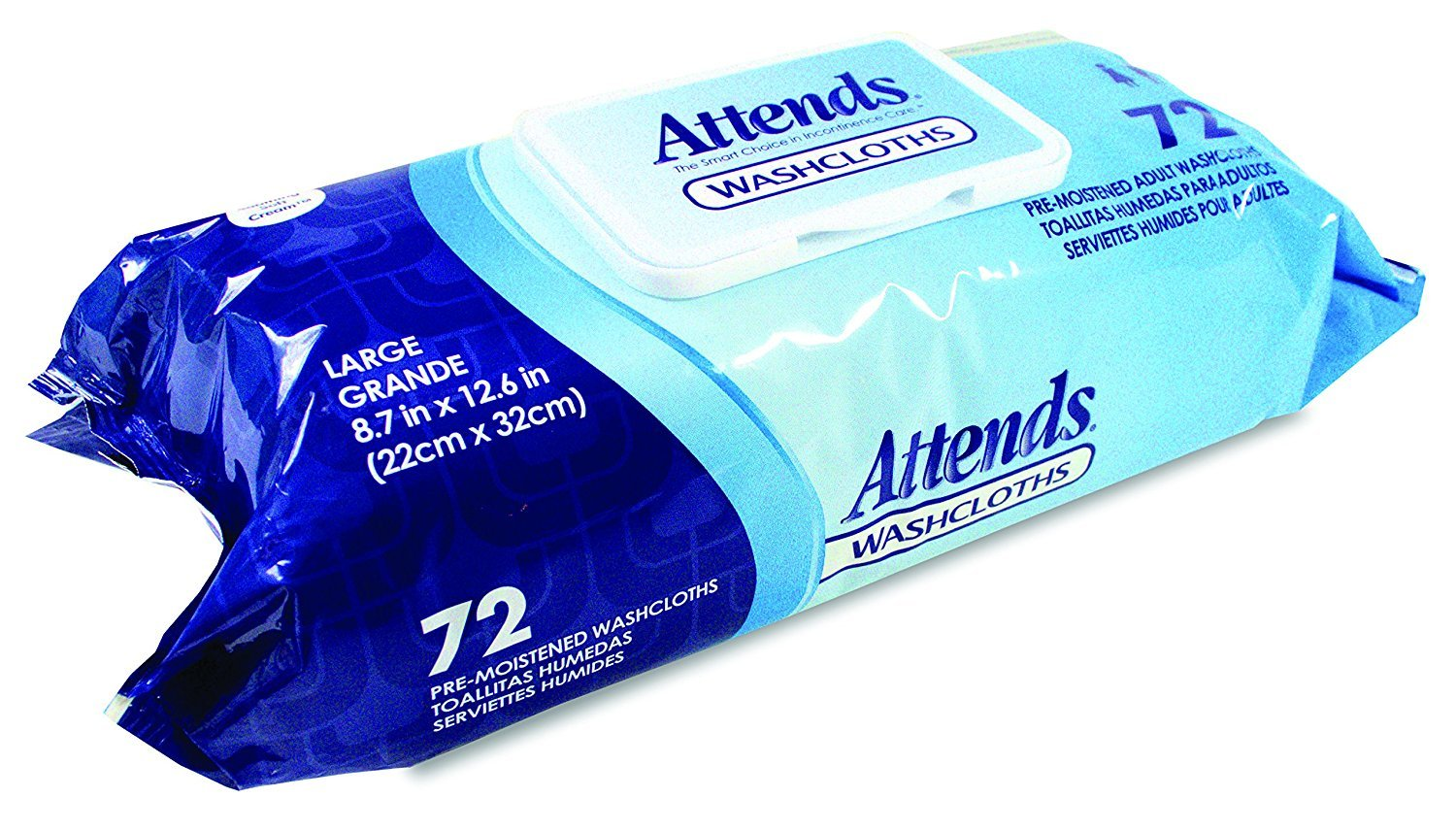 Amazon.com: Attends Attends Pre-Moistened Washcloths Convenience Pack 8