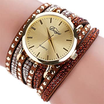 Fashion Watch Women Femmes Mode Casual Bracelet En Cuir -Bracelet Femmes Robe Bayan Kol i