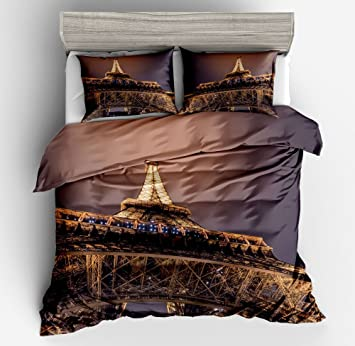 Ktlrr Set Größe Bettwäsche Set Für Doppelbett Bett Stadt Nacht