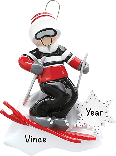 2021 Christmas Ornaments Guys Amazon Com Personalized Christmas Ornaments Guy Skiing Decor Charming 2021 Ornament Holiday Decorations Customized Gifts For Sports Fans Polyresin Ski Ornaments Decorations For Christmas Tree Kitchen Dining
