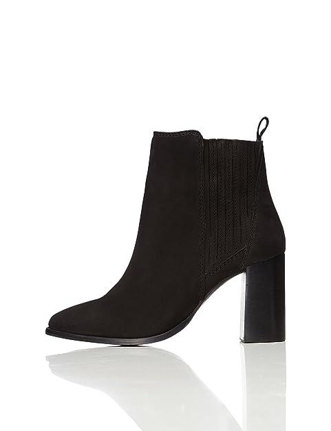 the best attitude 5c511 c764e Amazon-Marke: find. Stiefel Damen mit Rauleder und hohem Absatz