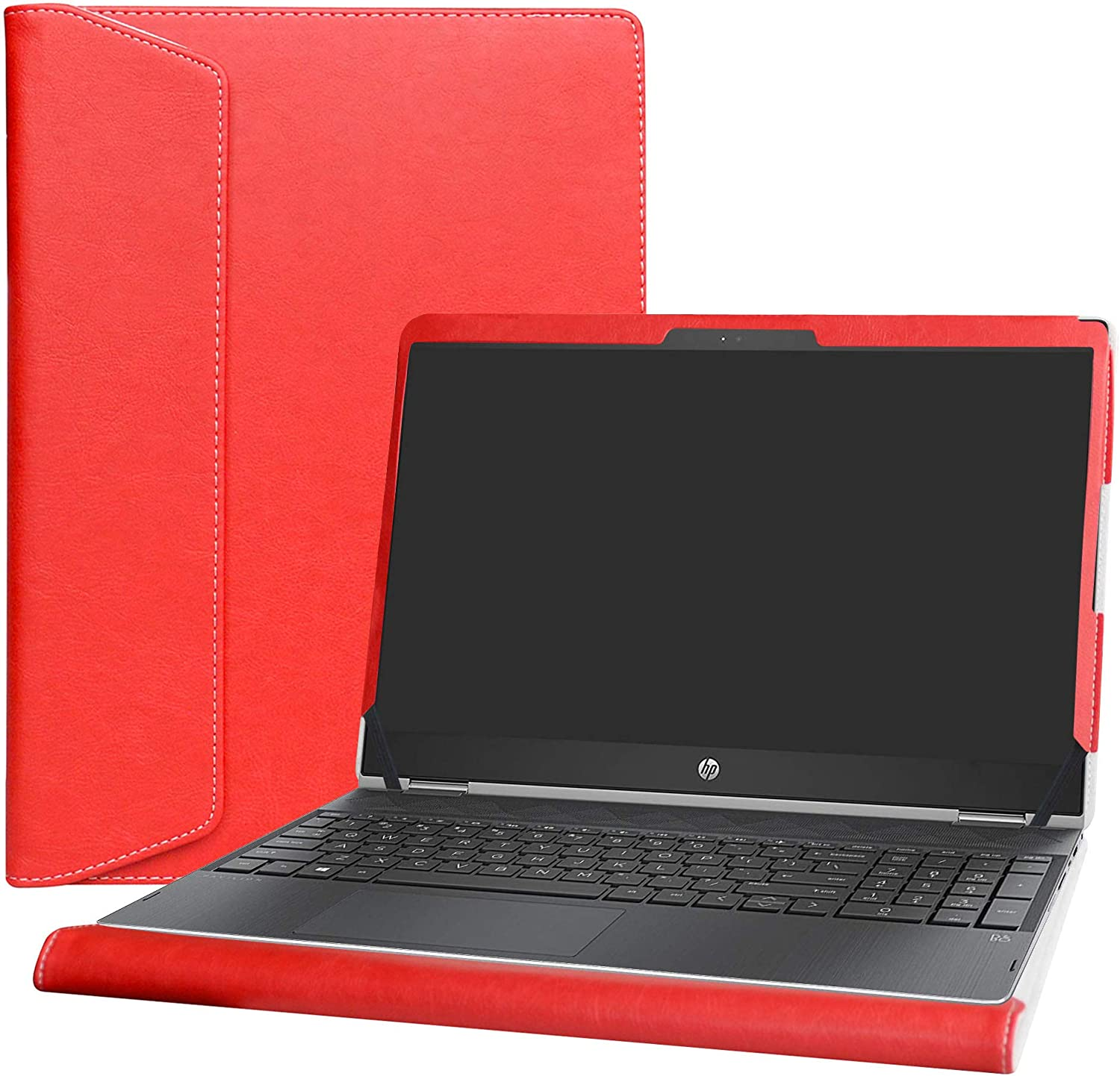 """Alapmk Protective Case Cover for 15.6"""" HP Pavilion X360 15 15t 15-crXXXX (15-cr0000 to 15-cr9999,Such as 15-cr0011nr 15-cr0010nr) Laptop [Warning:Not fit Pavilion X360 15 15-brXXX 15-bkXXX],Red"""