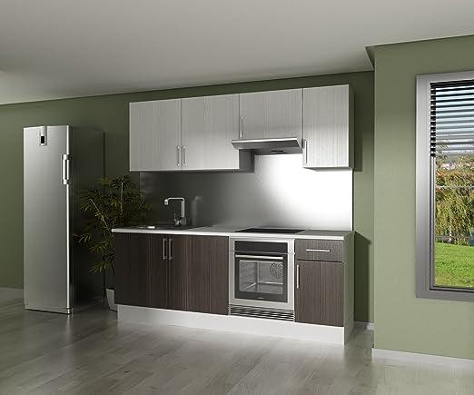 Finsa 959312 Cocina En Kit Modelo One 220 Cms En Wengue