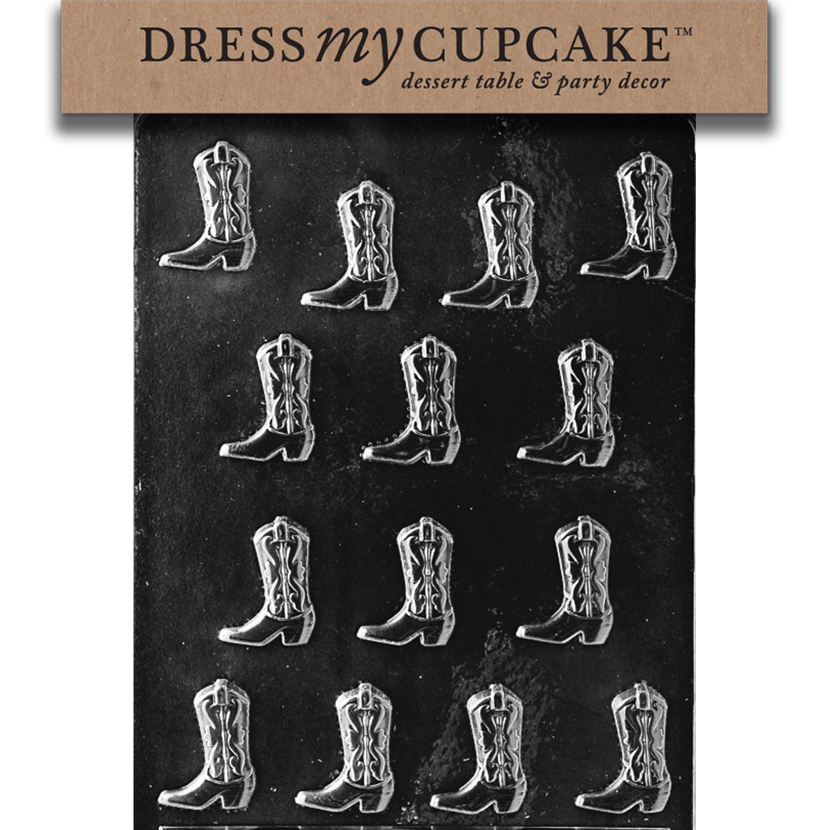 Amazon.com: Dress My Cupcake Chocolate Candy Mold, Cowboy Boots ...