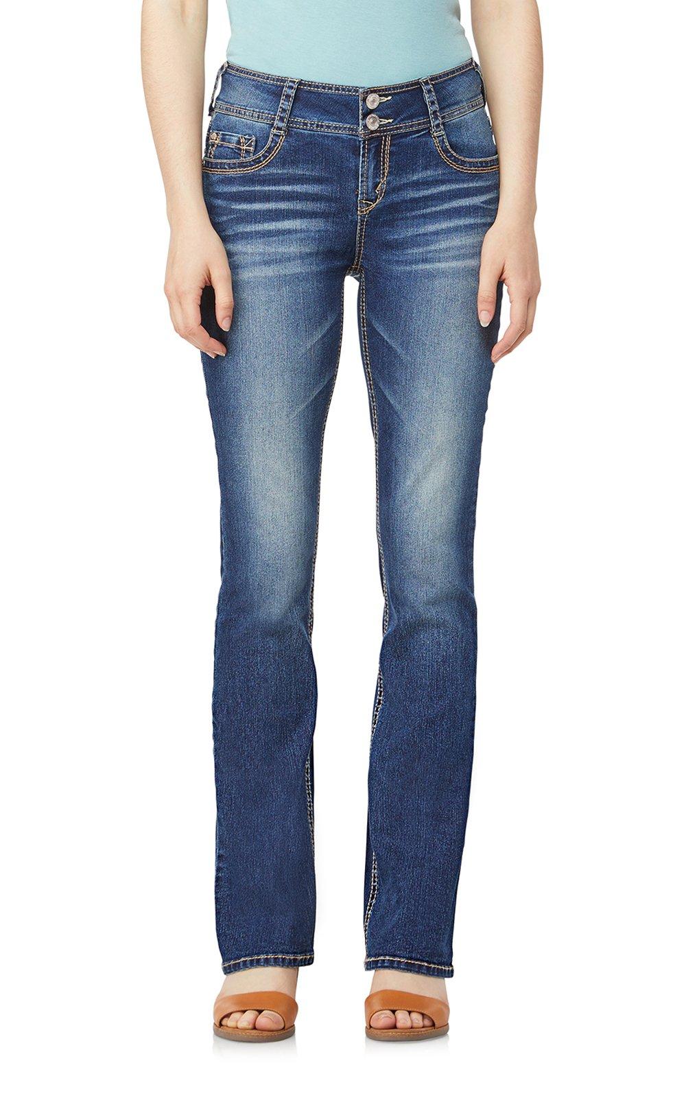 WallFlower Junior's Instastretch Luscious Curvy Bootcut Jeans, Twinkle, 11