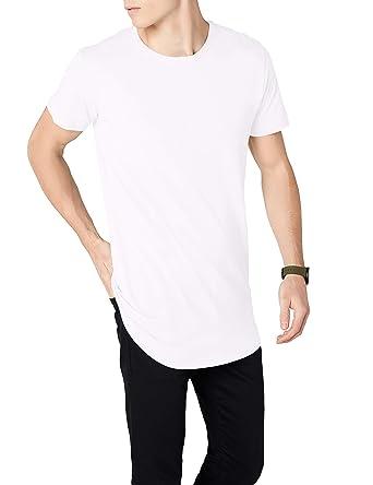 Urban Classic Shaped Long Tee, T-shirt Manches Courtes Homme, Blanc (White 324dd3089d99