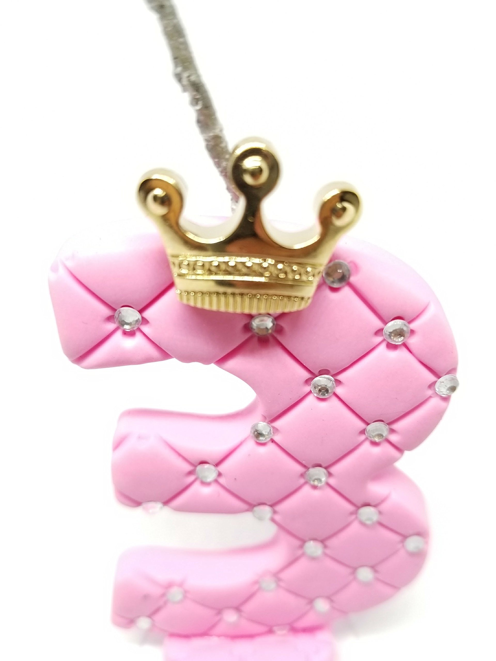 3rd Third Birthday Candle Number Boy Girl - 3 Three Year Candle Number - Handmade Candles - Happy Birthday Cake Topper - Pink Candle Cake by BRASPA (Image #6)