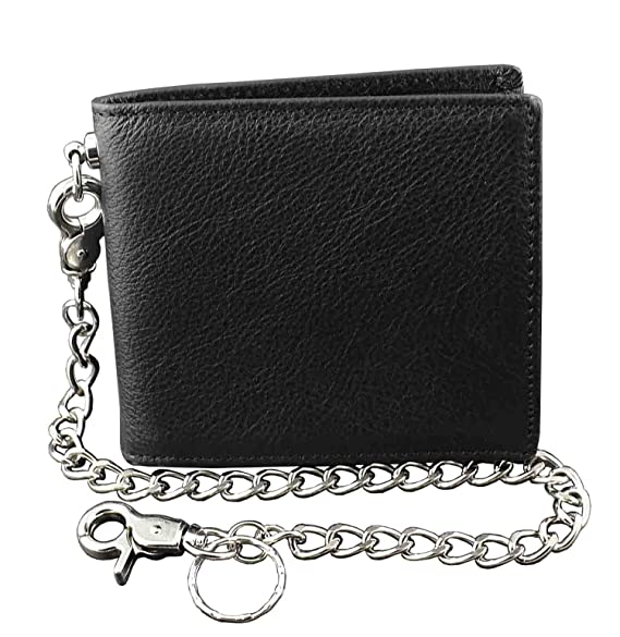 special promotion 100% quality outlet boutique Guarantee ! Real Leather Wallet Purse for Mens With Security Chain