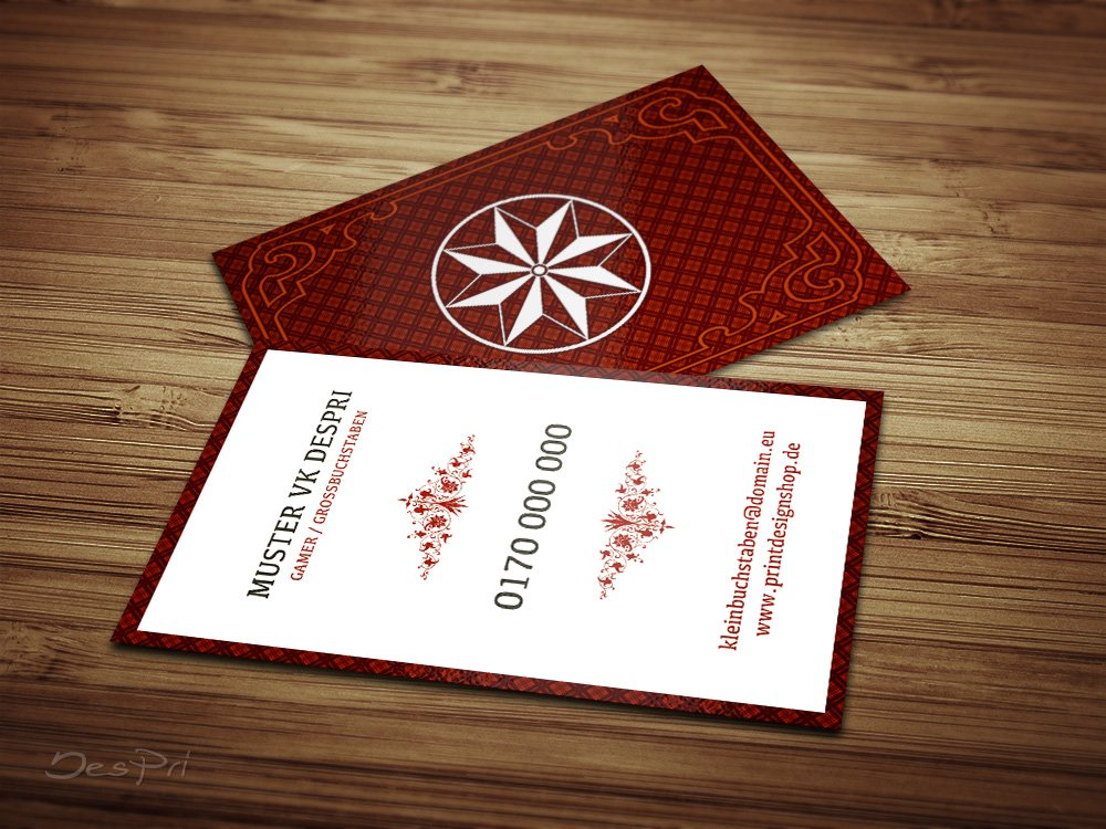 Visitenkarten - - - Online gestalten  Despri VK025, Kariert, 250 Stück, glänzend (Rot) B07883HFN9   Niedriger Preis und gute Qualität    Elegante Und Stabile Verpackung    Vogue  e10ecd
