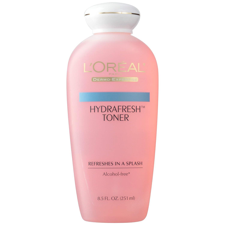 L'Oréal Paris Skincare HydraFresh Toner, Alcohol Free Toner with Pro-Vitamin B5 for Face, 8.5 fl. oz.