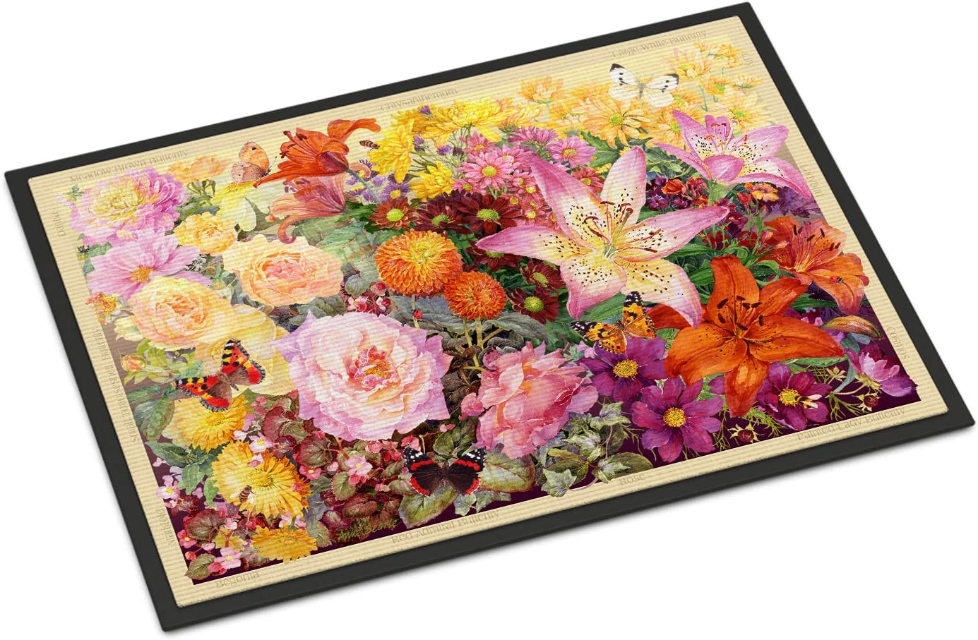 Caroline s Treasures SASE0955JMAT Autumn Floral by Anne Searle Indoor or Outdoor Mat 24×36, 24H X 36W, Multicolor