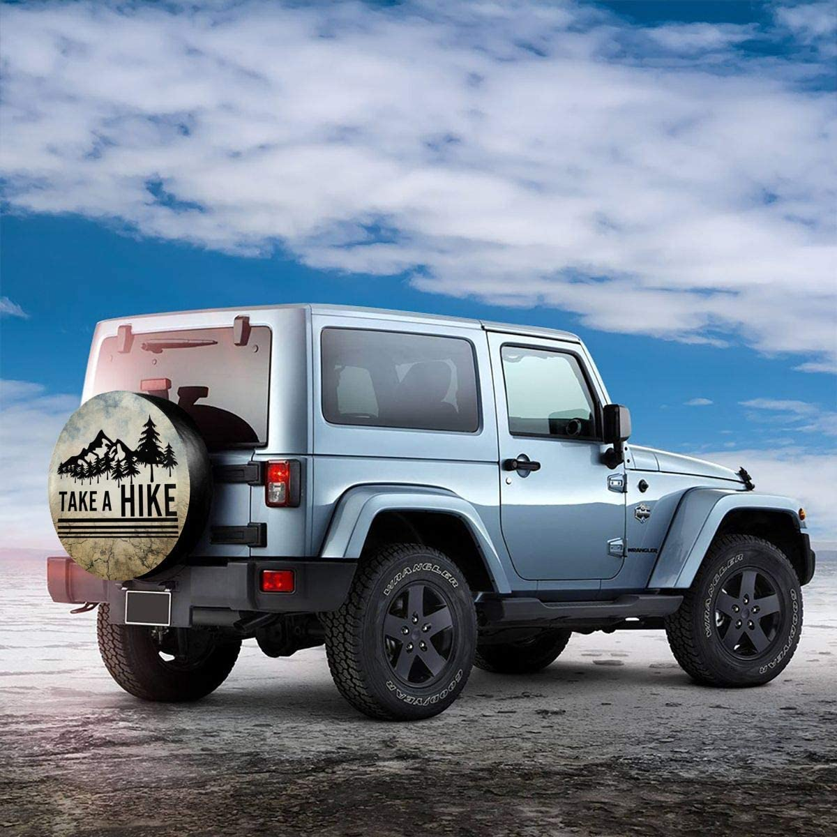Take A Hike Hiking Hiker Spare Tire Cover Back Off Wheel Covers for Jeep Trailer RV SUV Truck Travel Trailer Accessories 14 15 16 17 Kejbr Spare Wheel Cover
