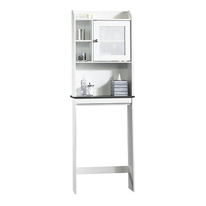 Amazon.com: Sauder Caraway Etagere Bath Cabinet, Soft White Finish ...