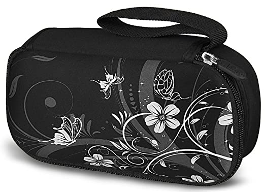 WATERFLY Noble Black Luxury Travel Organizer / Carry Case Bag Pouch Pack Holder For Ac Adapter Laptop Charger Power Bank Mouse Electronics Accessories Mp3 Mp4 CellPhone Smartphone USB Cable Navigater