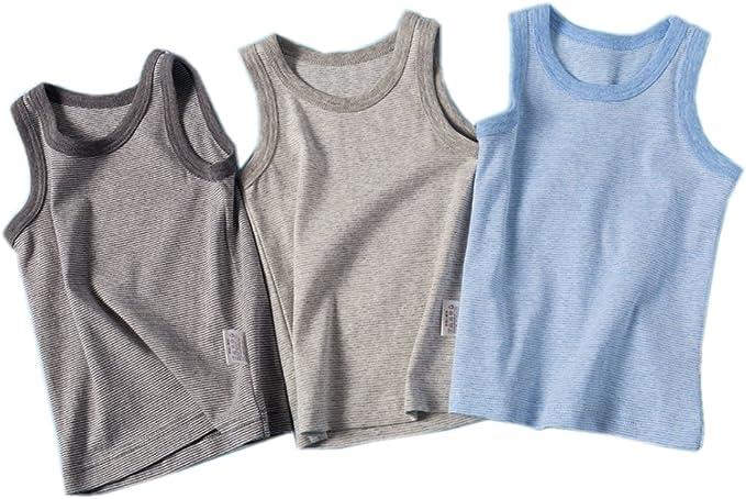 Amazon.com: VeaRin Toddler Boys Comfort Cotton Tank Top Undershirts:  Clothing