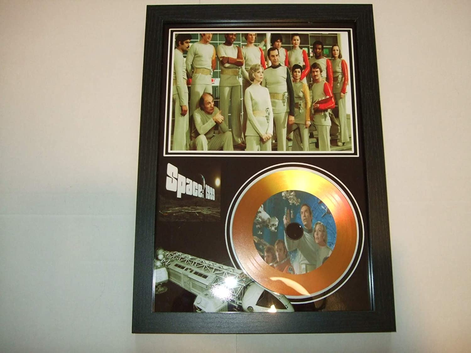 gold disc frames SPACE 1999 TV SHOW