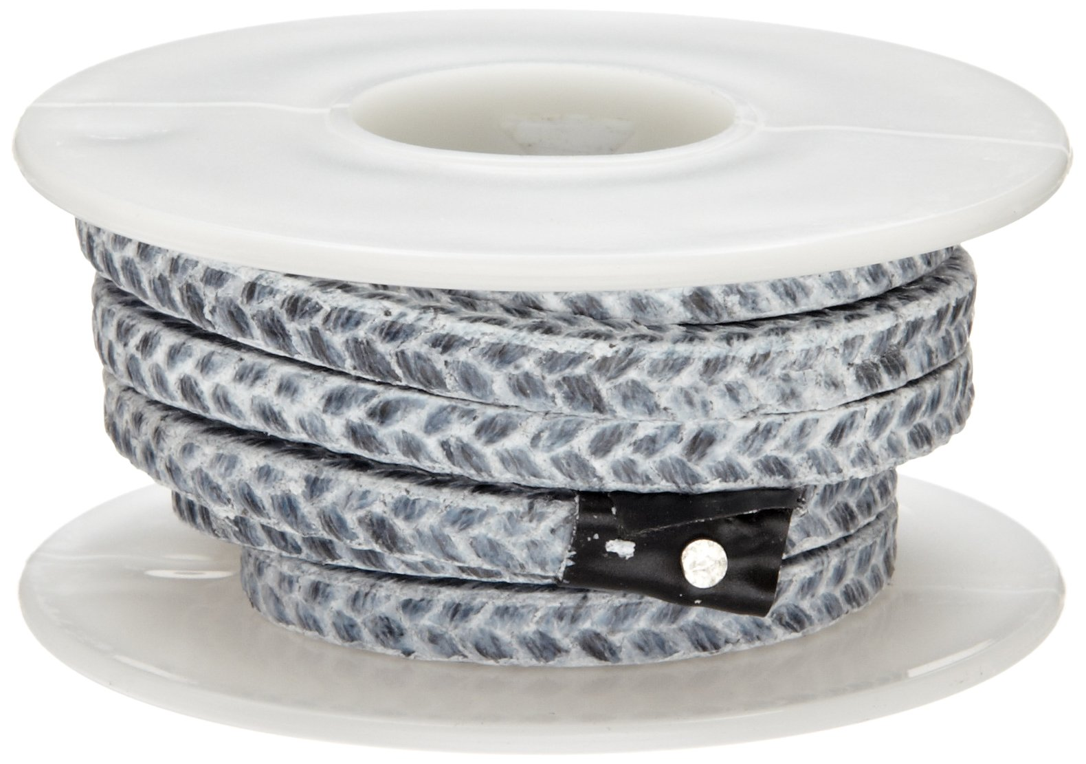 Palmetto 1588 Series Carbon with PTFE Coating Compression Packing Seal, Dull Gray, 7/16'' Square, 5' Length